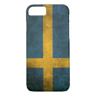 スウェーデンのヴィンテージの動揺してな旗 iPhone 8/7ケース