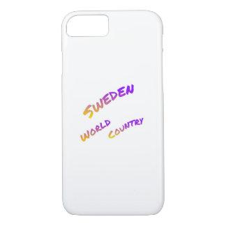 スウェーデンの世界の国、多彩な文字の芸術 iPhone 8/7ケース