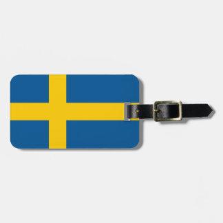 スウェーデンの名前入りな荷物のラベルの旗 ラゲッジタグ