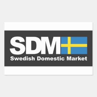 スウェーデンの国内市場のステッカー 長方形シール