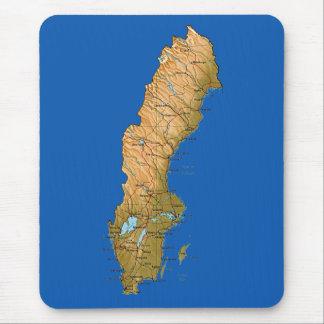 スウェーデンの地図のマウスパッド マウスパッド