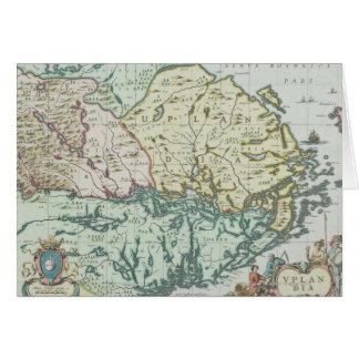 スウェーデンの地図 カード