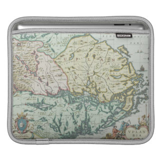 スウェーデンの地図 iPadスリーブ