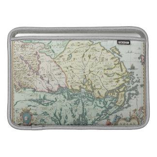 スウェーデンの地図 MacBook スリーブ