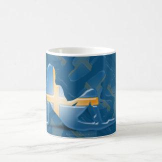 スウェーデンの女の子のシルエットの旗 コーヒーマグカップ