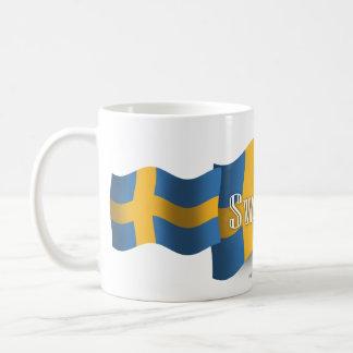 スウェーデンの振る旗 コーヒーマグカップ