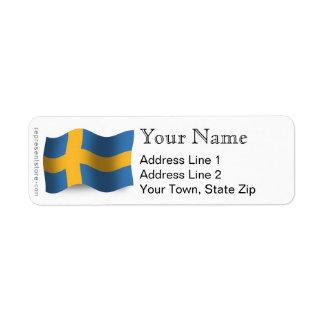 スウェーデンの振る旗 ラベル