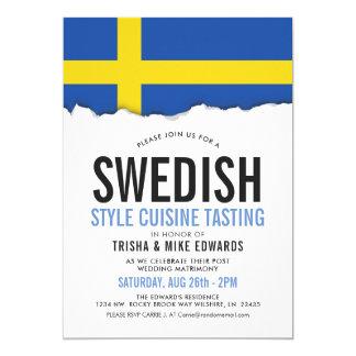 スウェーデンの料理 のパーティーの旗の招待 カード