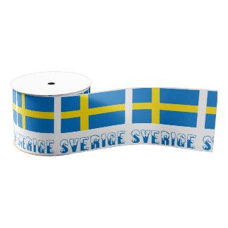 スウェーデンの旗およびSverige グログランリボン