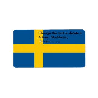 スウェーデンの旗が付いているカスタムなラベル ラベル