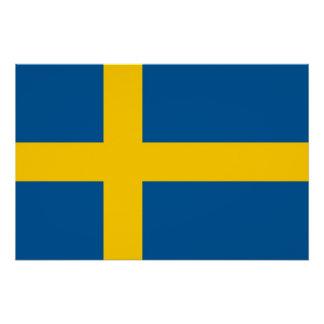 スウェーデンの旗が付いている愛国心が強いポスター ポスター