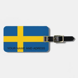 スウェーデンの旗が付いている荷物のラベル ラゲッジタグ