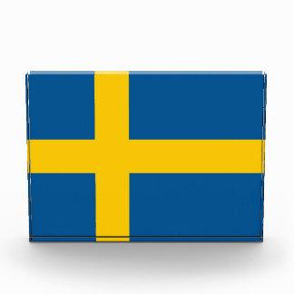 スウェーデンの旗が付いている賞 表彰盾