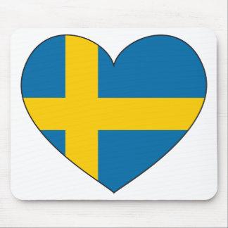 スウェーデンの旗のシンプル マウスパッド