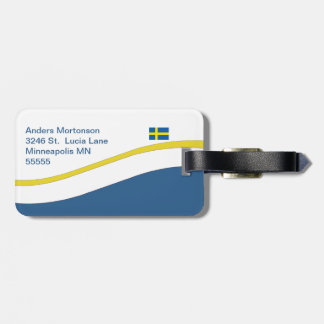 スウェーデンの旗のスカンジナビア人のカスタム ラゲッジタグ
