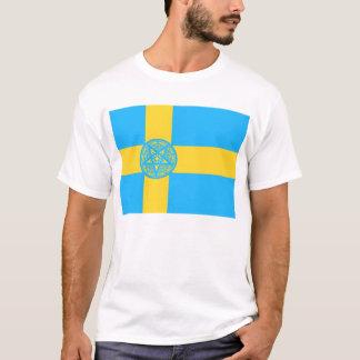 スウェーデンの旗の五芒星 Tシャツ