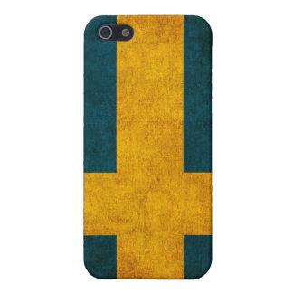 スウェーデンの旗の動揺してなiphone 4ケース iPhone SE/5/5sケース