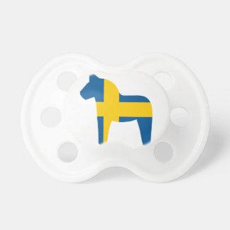 スウェーデンの旗のDalaの馬 おしゃぶり