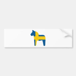 スウェーデンの旗のDalaの馬 バンパーステッカー