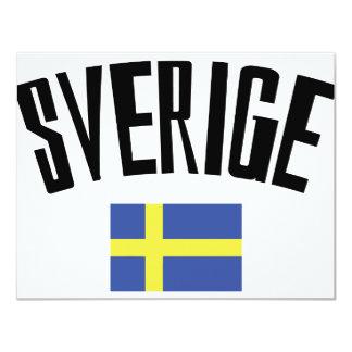 スウェーデンの旗アイコン カード