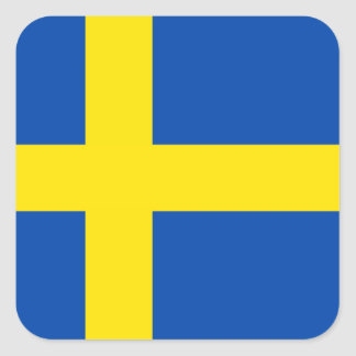 スウェーデンの旗 スクエアシール