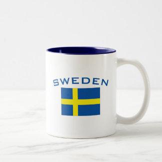 スウェーデンの旗 ツートーンマグカップ