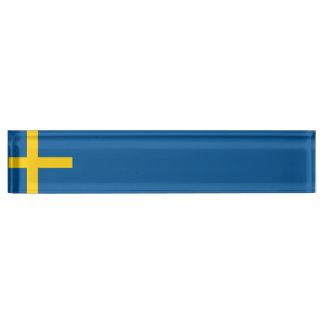 スウェーデンの旗 デスクネームプレート