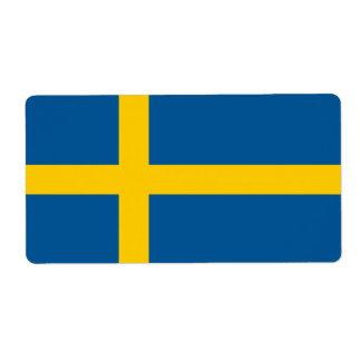 スウェーデンの旗 ラベル