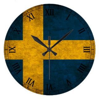 スウェーデンの旗 ラージ壁時計