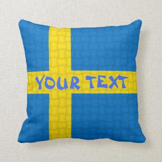 スウェーデンの旗: 文字を加えて下さい クッション