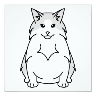 スウェーデンの森林猫の漫画 カード