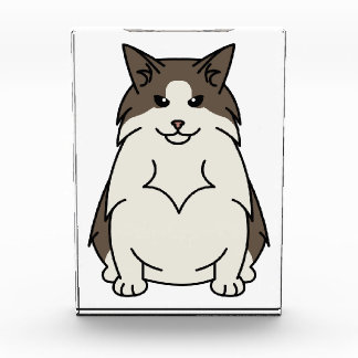 スウェーデンの森林猫の漫画 表彰盾
