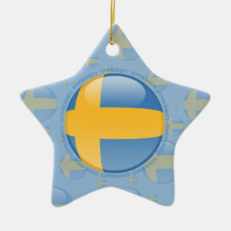 スウェーデンの泡旗 セラミックオーナメント