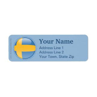 スウェーデンの泡旗 ラベル