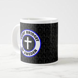 スウェーデンの聖者Bridget ジャンボコーヒーマグカップ