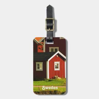スウェーデンの赤い家 ラゲッジタグ