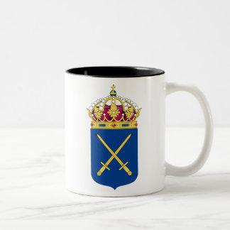 スウェーデンの軍隊のマグ ツートーンマグカップ