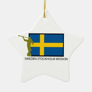 スウェーデンストックホルムの代表団LDS CTR セラミックオーナメント