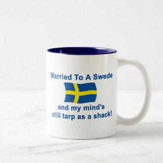 スウェーデン人に結婚した ツートーンマグカップ