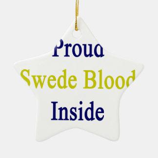 スウェーデン人の誇りを持ったな血中 セラミックオーナメント
