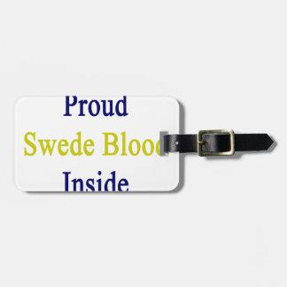 スウェーデン人の誇りを持ったな血中 ラゲッジタグ