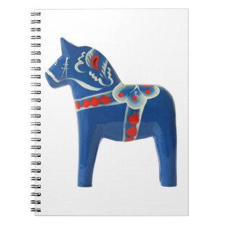 スウェーデン人のDalaの青い馬 ノートブック