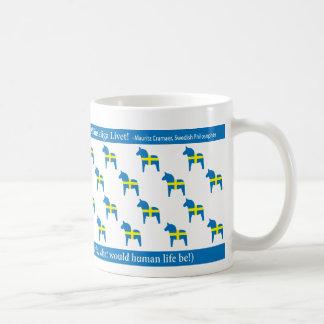 スウェーデン人のDalaの馬のマグ コーヒーマグカップ