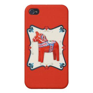 スウェーデン人のDalaの馬の民芸の組み立てられたスカンジナビア人 iPhone 4/4S Cover