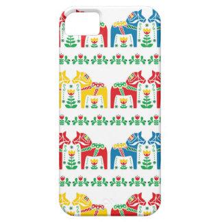 スウェーデン人のDalaの馬の花の民俗パターン iPhone SE/5/5s ケース