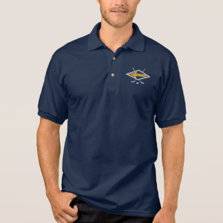 スウェーデン人のSverigeのアイスホッケー ポロシャツ