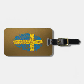 スウェーデン人のtouchの指紋の旗 ラゲッジタグ