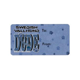 スウェーデン人のVallhundの男 ラベル