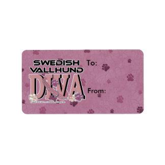 スウェーデン人のVallhundの花型女性歌手 ラベル