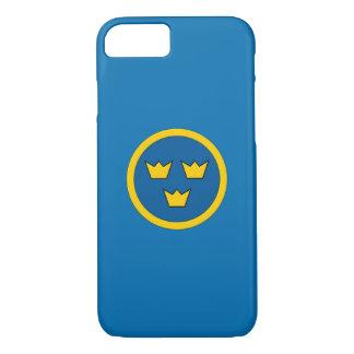 スウェーデン人3の王冠のスカンジナビアの紋章付き外衣 iPhone 8/7ケース